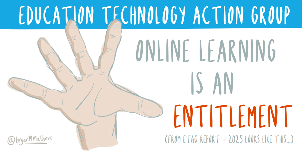 Online learning is an entitlement