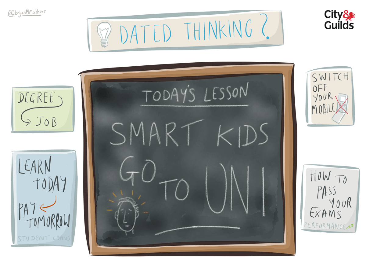 Smart kids go to uni