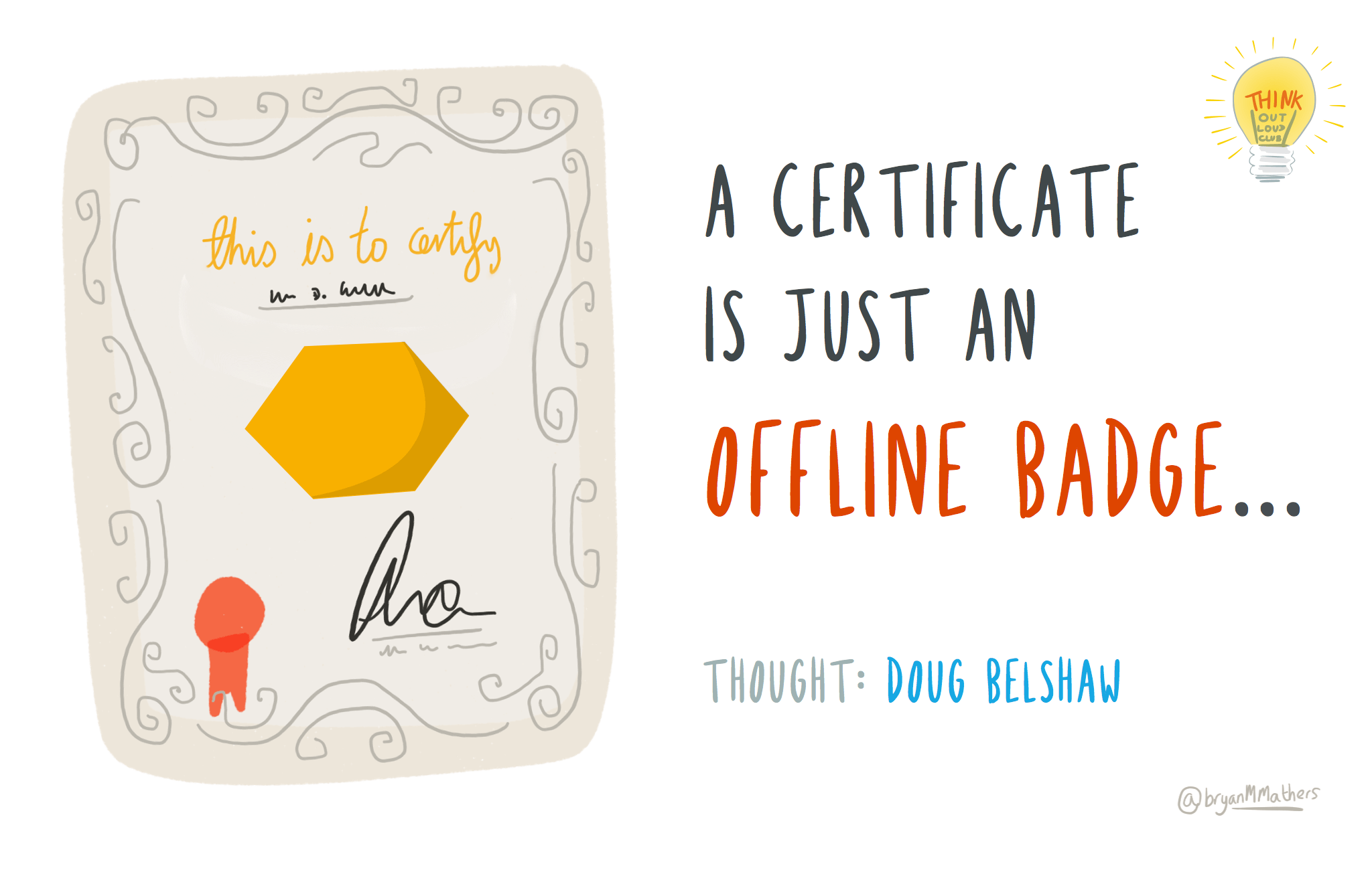 A certificate is just an offline badge