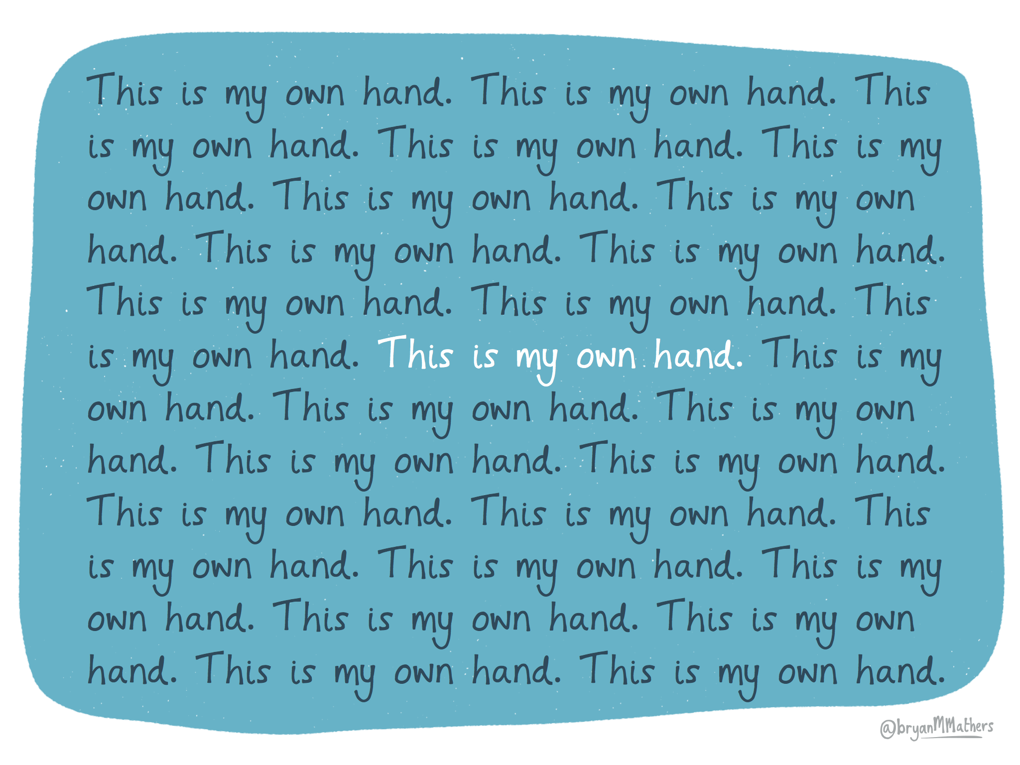 This is my own hand