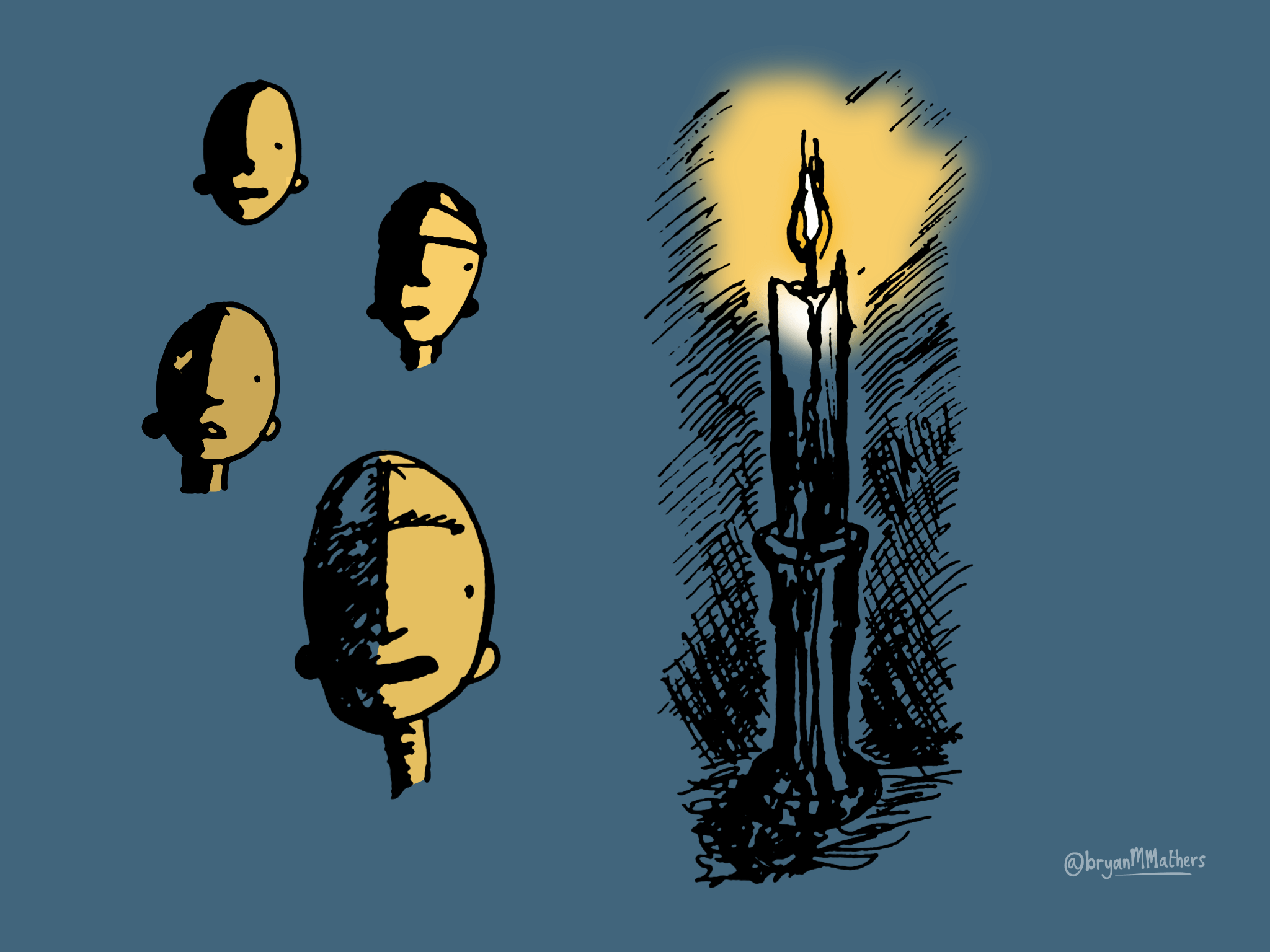Thinking by candlelight