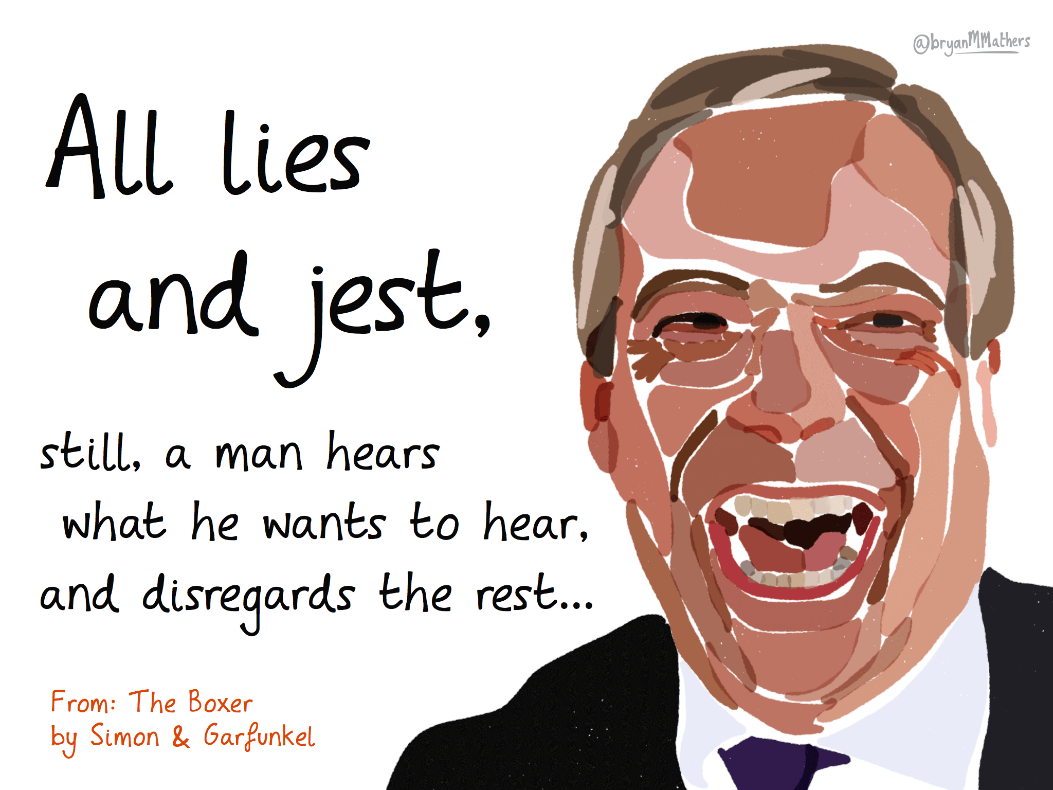 All lies and jest…