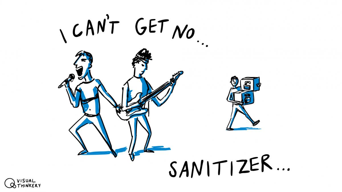 I can't get no - sanitizer