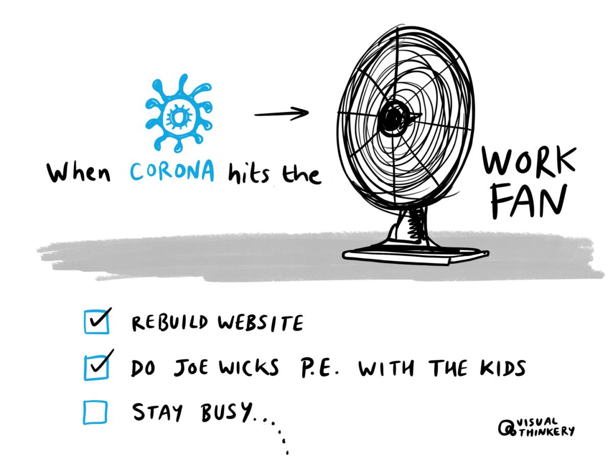 When corona hits the fan...