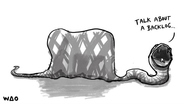 talk about a backlog