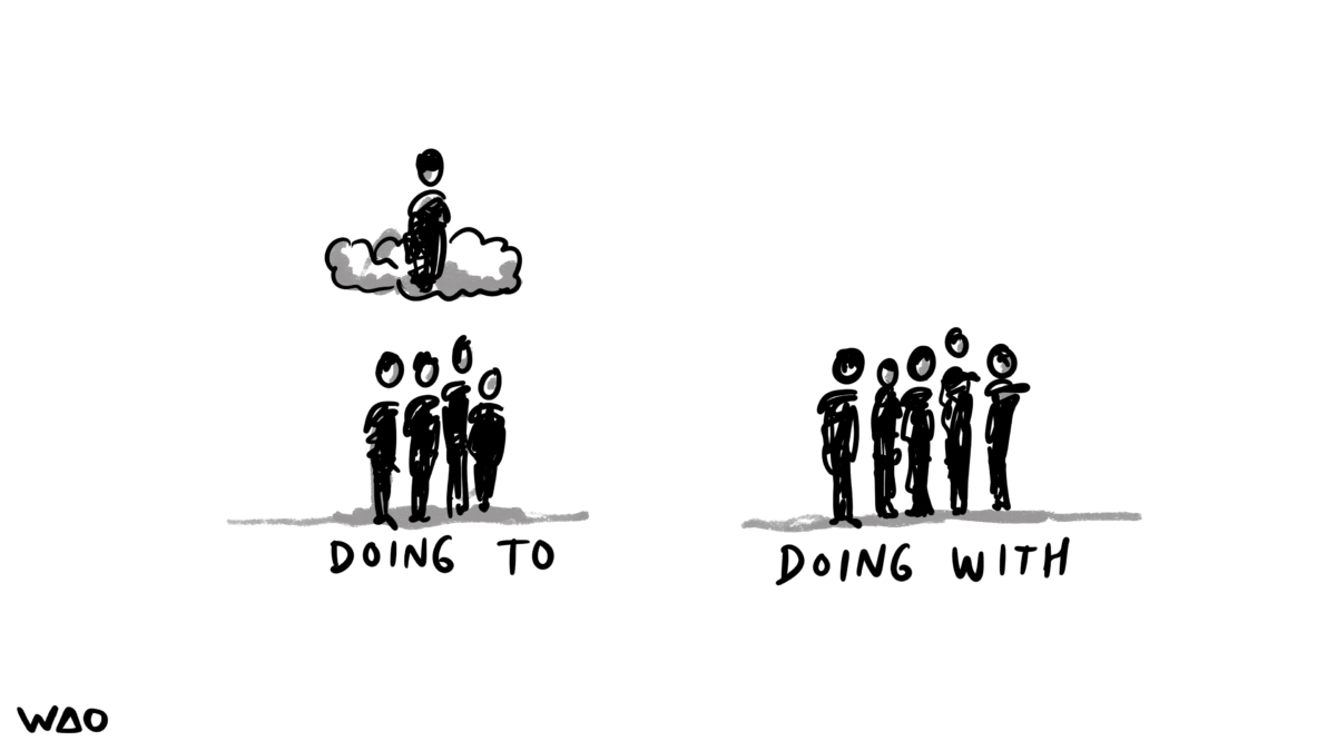 Doing to vs Doing with