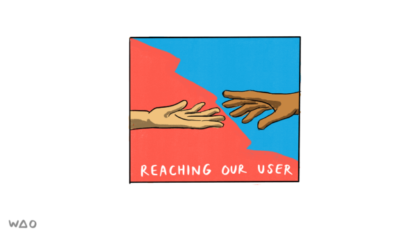 reaching our user